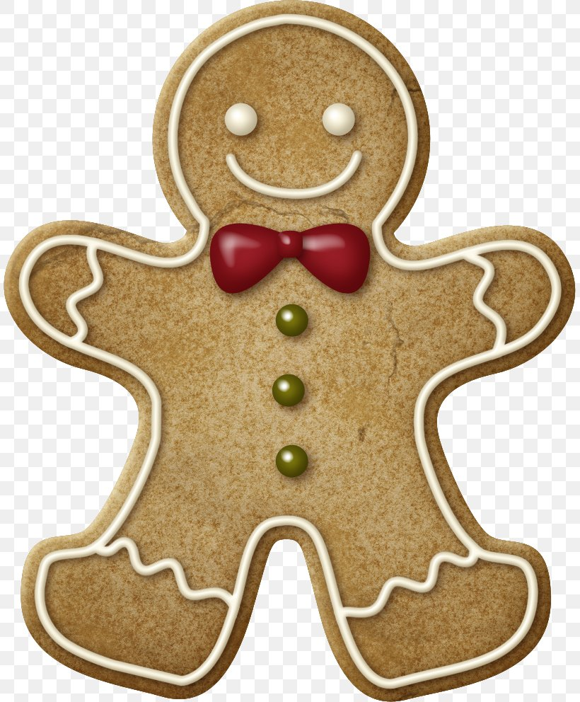 The Gingerbread Man Christmas Cookie Clip Art, PNG.