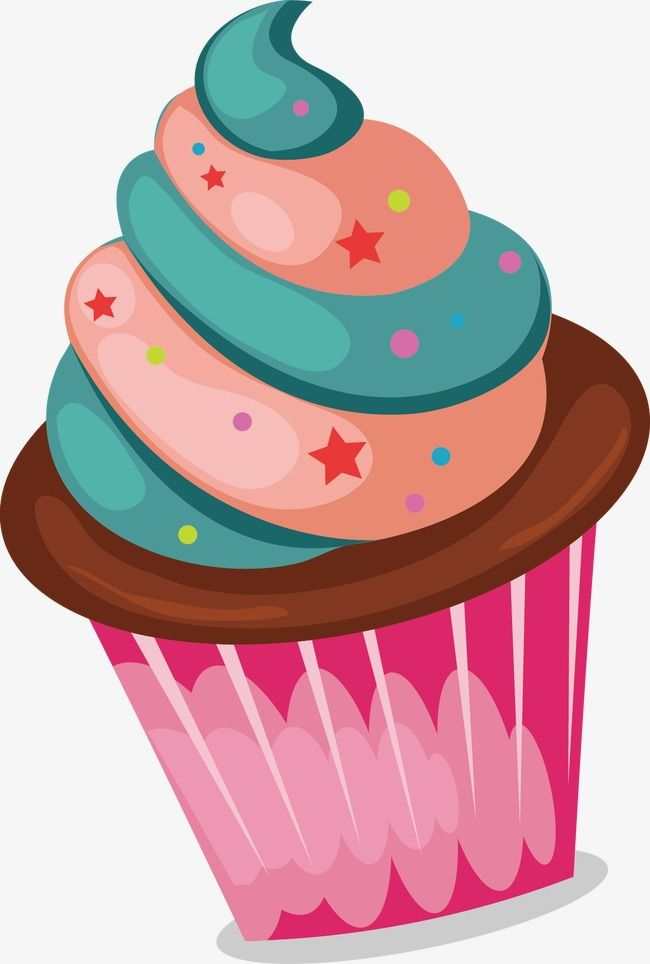 Colored Cupcakes, Cake, Bakery PNG and Vector with Transparent.
