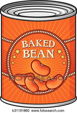 Tin of baked beans Clipart.