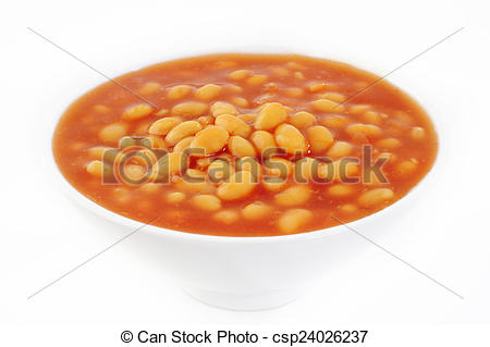baked beans in bowl.