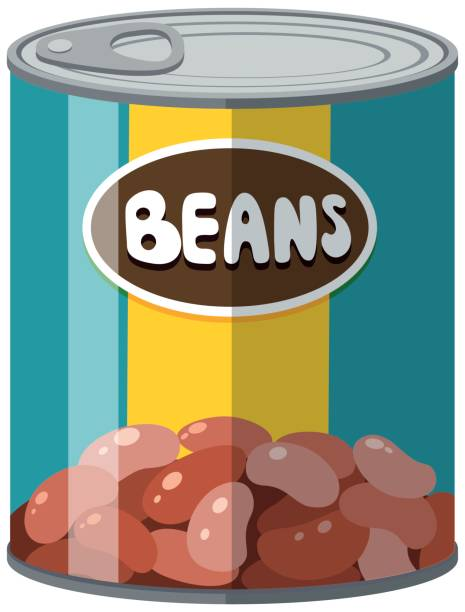 Best Baked Beans Illustrations, Royalty.