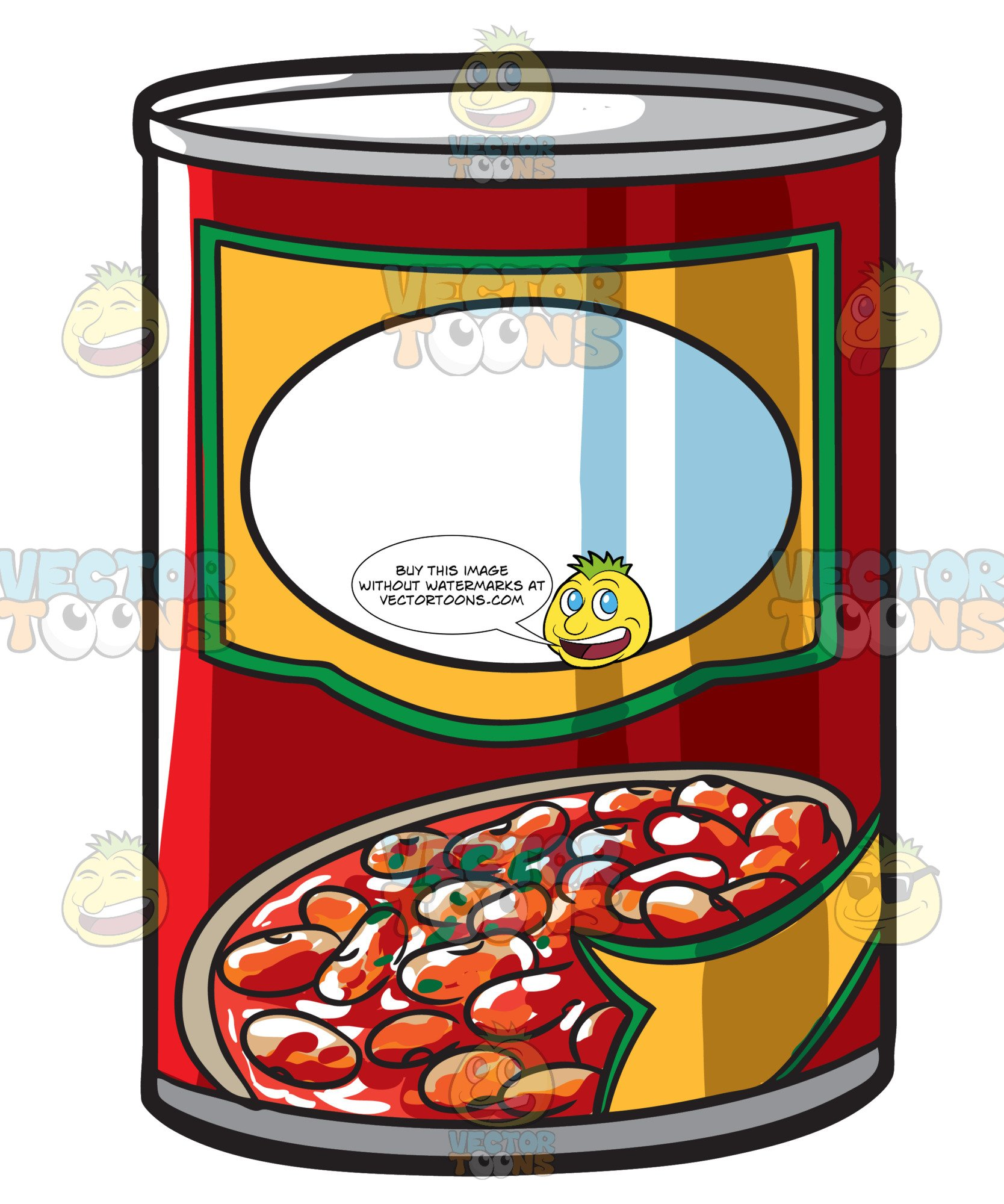 A Can Of Baked Beans.
