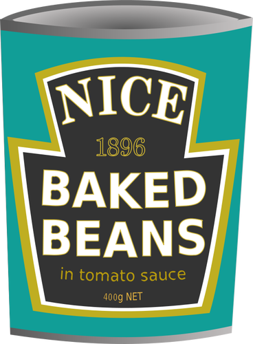 Baked beans tin vector image.