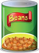 Baked bean Clip Art EPS Images. 341 baked bean clipart vector.