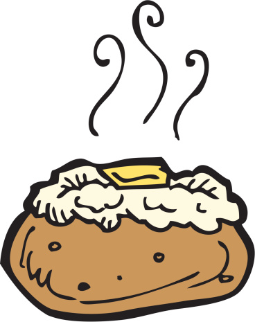 Baked potato pictures clip art.