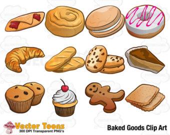 Clip art baked goods.