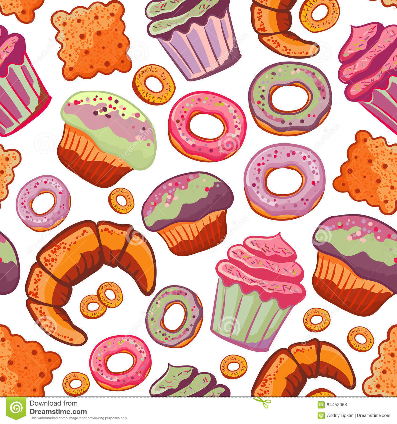Baked Goods Clipart Group with 53+ items.