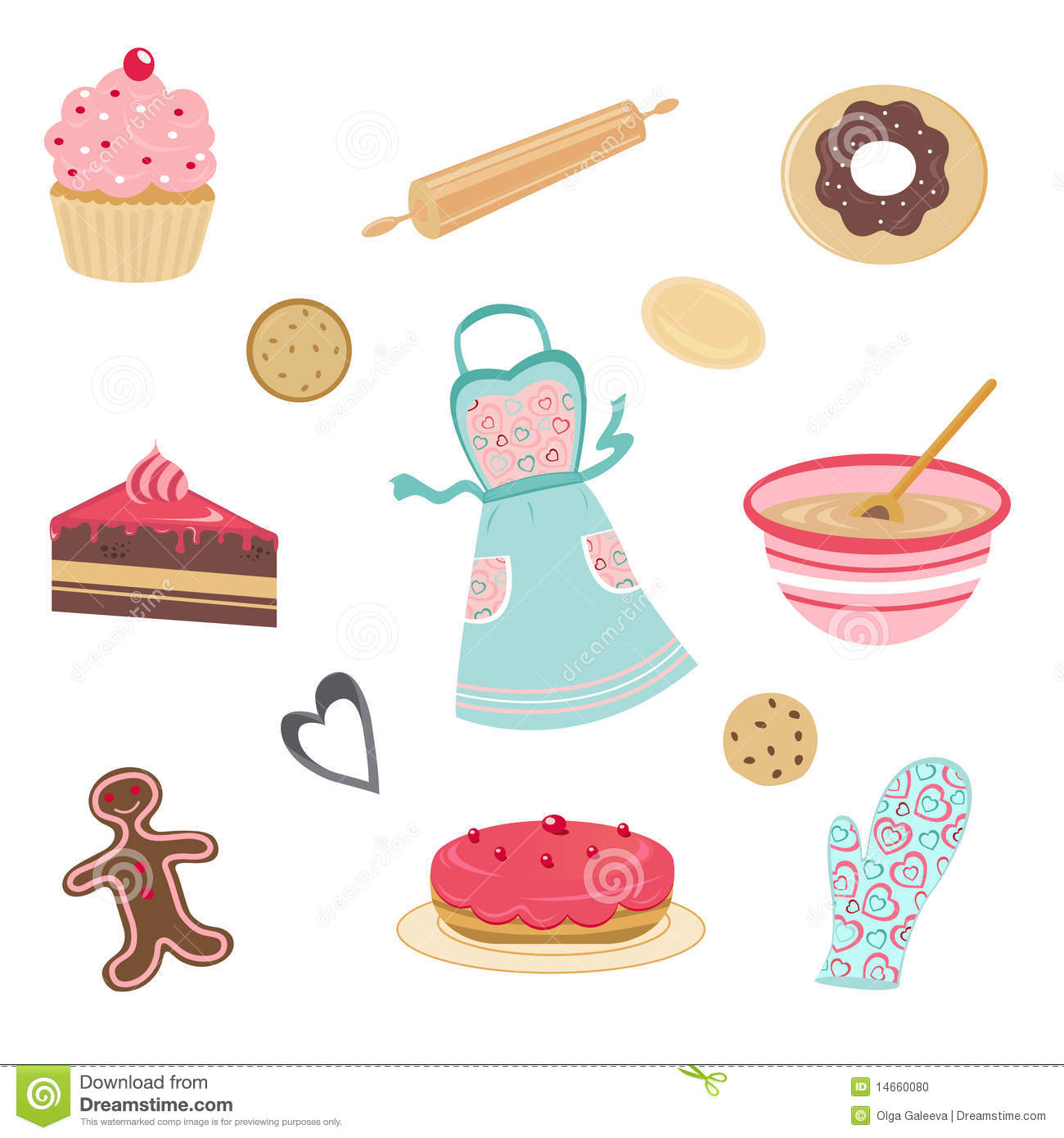 Cute Baked Goods Clipart.