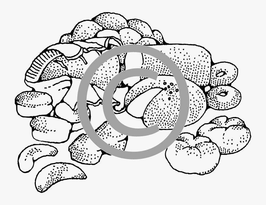 Baked Goods Black And White , Free Transparent Clipart.