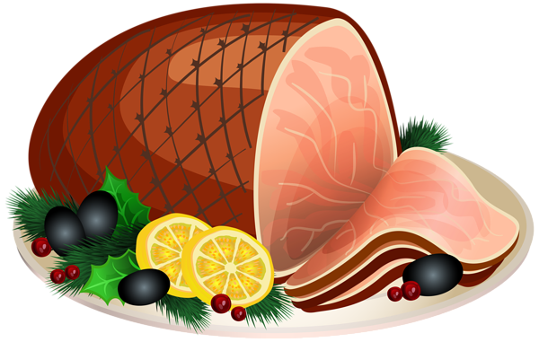 Baked ham clipart.