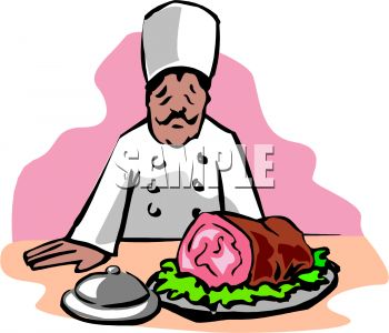 Angry ham clipart.
