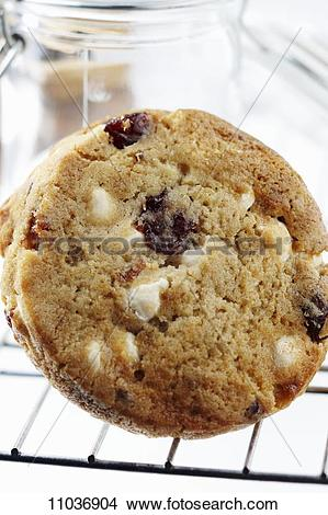 Stock Photo of White Chocolate Chip, Cranberry, Macadamia Nut.