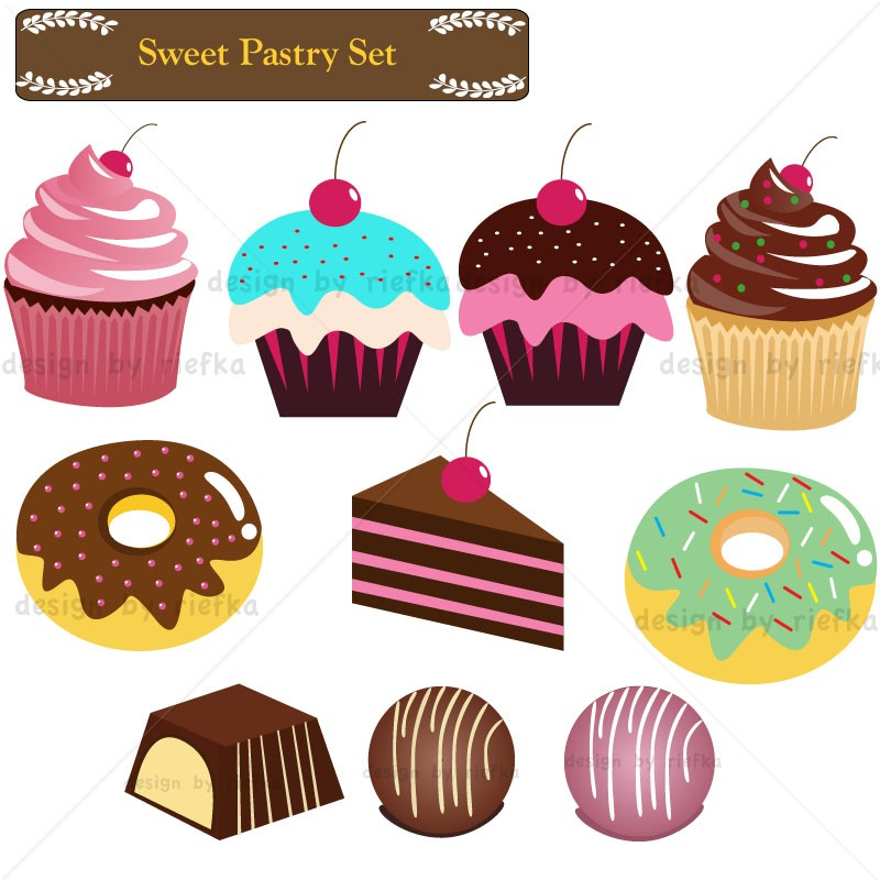 Baked pastry clipart #3
