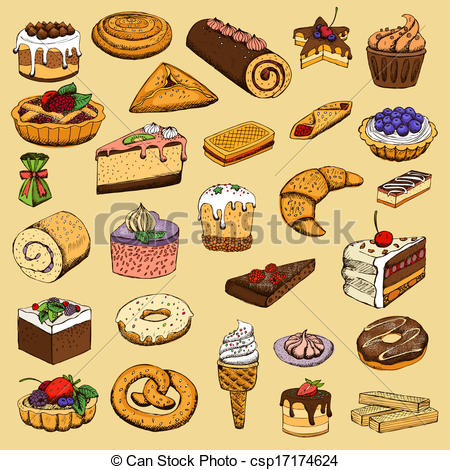 Pastries Clipart and Stock Illustrations. 38,593 Pastries vector.
