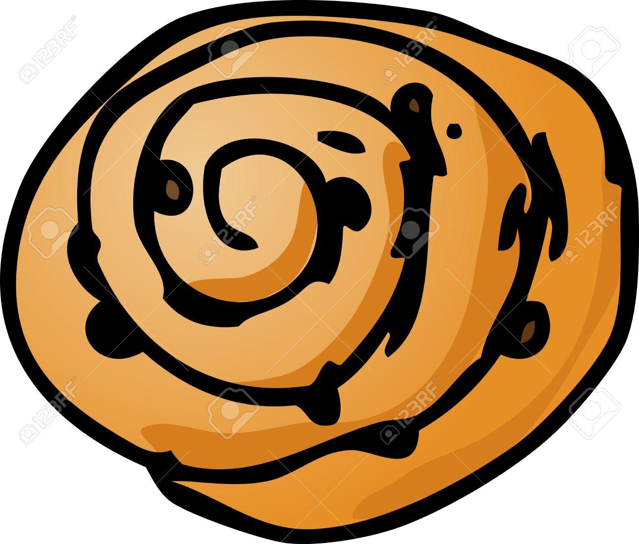 Danish pastry clipart.