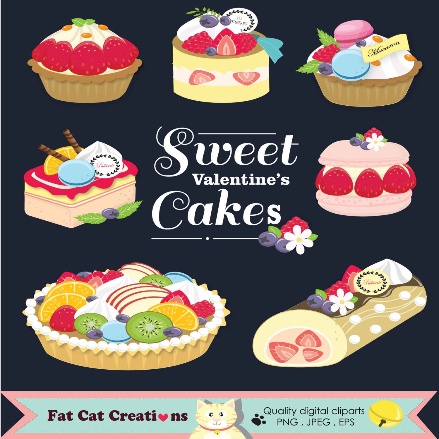 Pastries clipart.