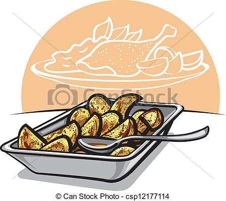 Baked potatoes clipart - Clipground