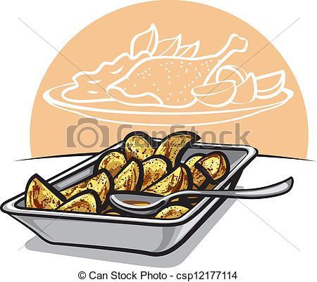 Roasted potatoes Clipart Vector Graphics. 128 Roasted potatoes EPS.