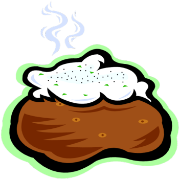 Baked Potato People Clipart.