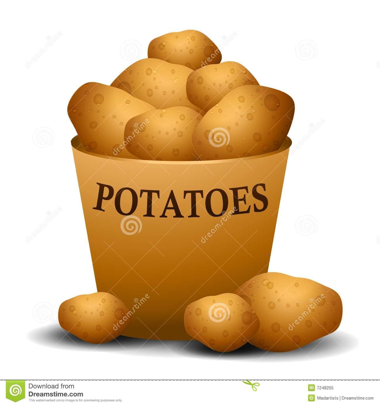 Baked Potatoes Clip Art.