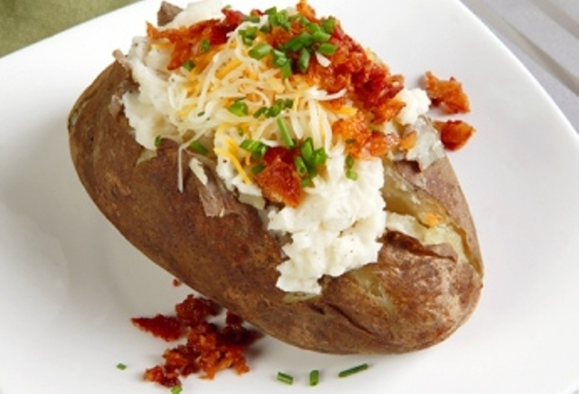 Baked potatoes clipart #2