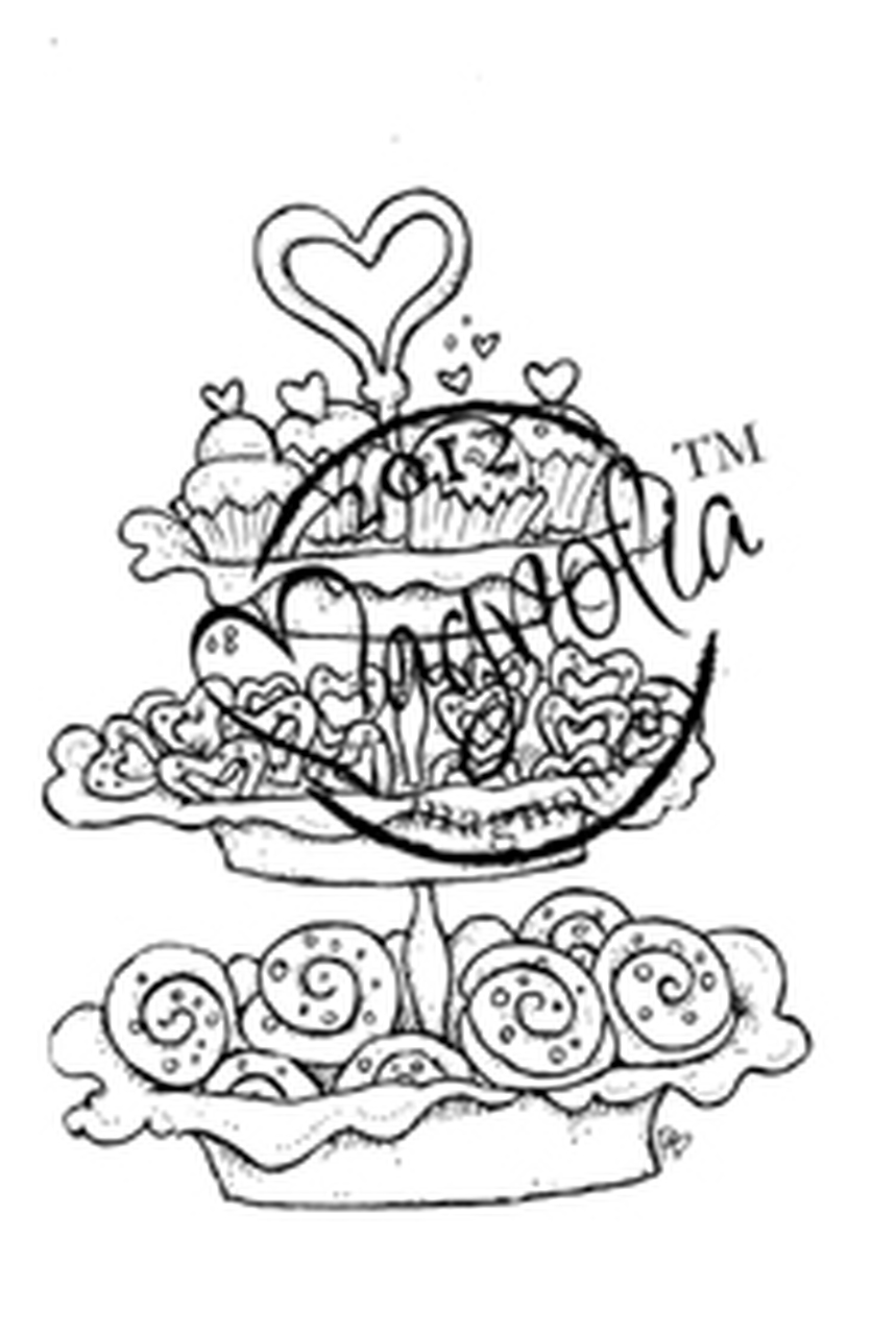 Magnolia Stamps BAKED WITH LOVE.