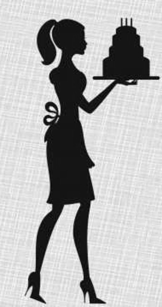 bakery logo with silhouette.