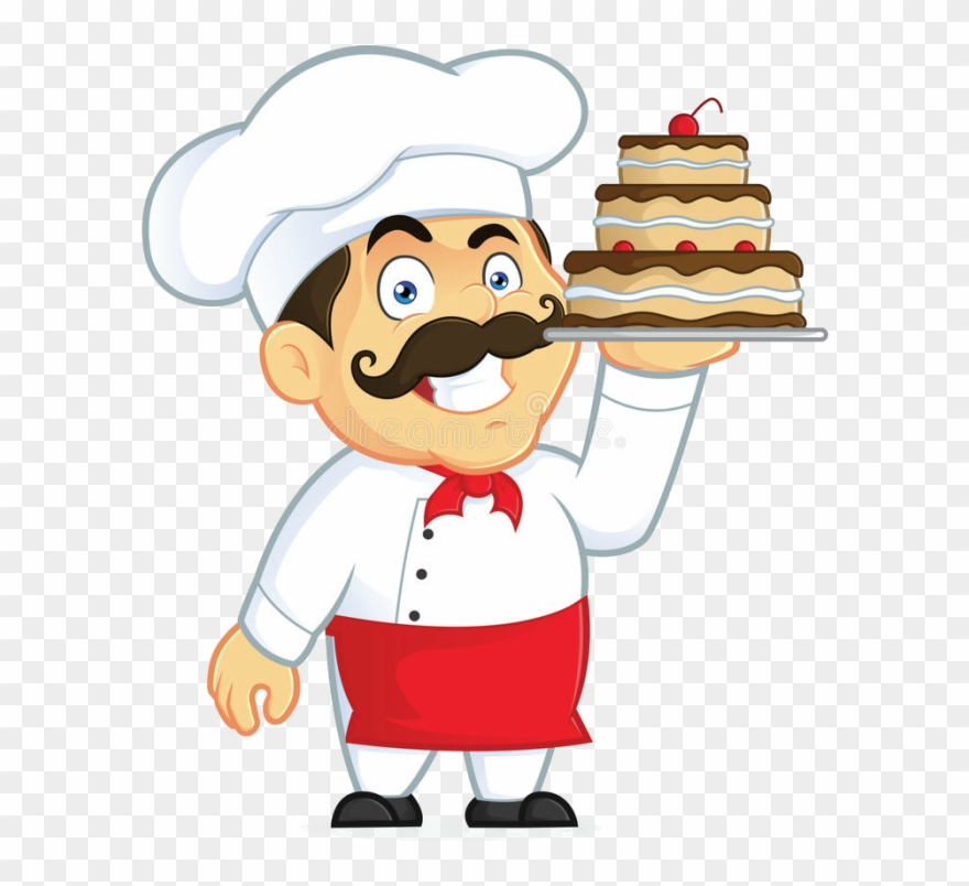 700px Chef Chocolate Cake Clipart Picture Cartoon Character.