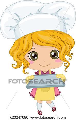 Baker Girl Clipart.