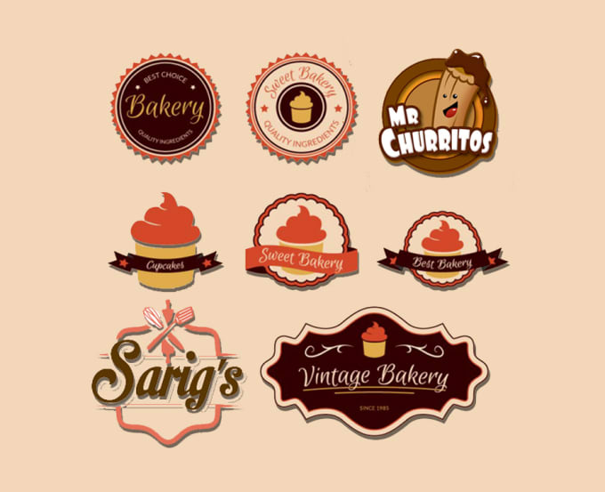 make any kind of bakery logo.