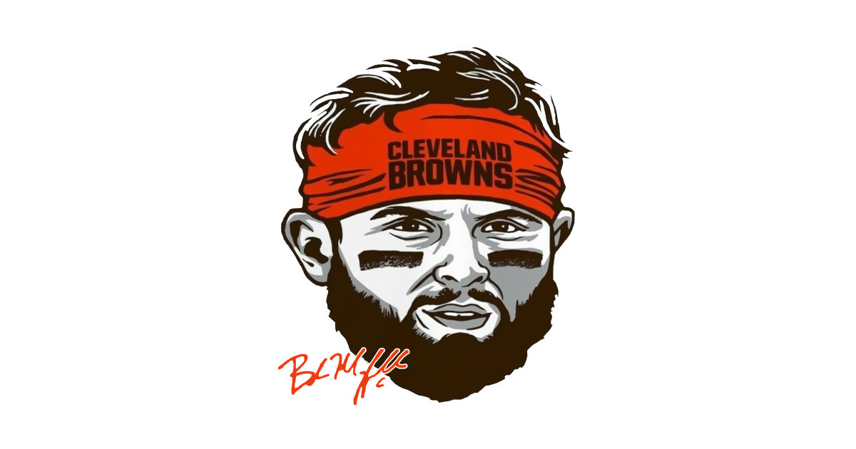 CLEVELAND #6 BAKER MAYFIELD ORANGE HEADBAND.