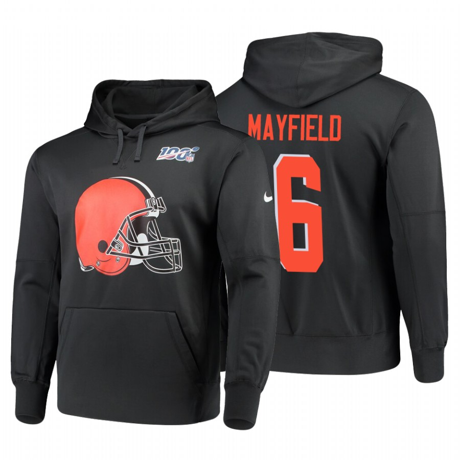 Cleveland Browns 100th Anniversary Logo Baker Mayfield.