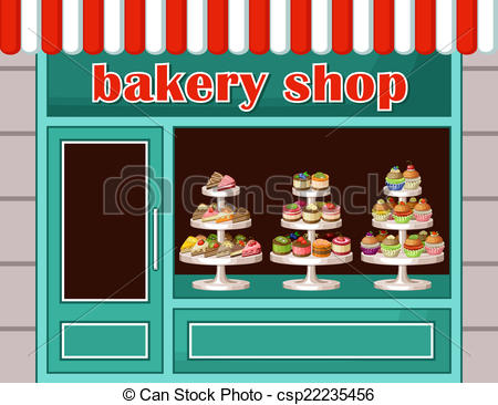 Pastry shop clipart.