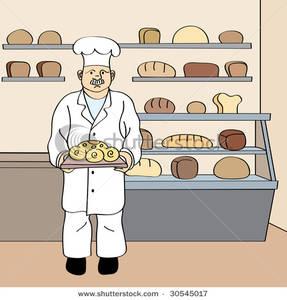 Bread baker clipart.