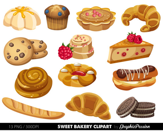Bakery clipart Sweet Treat Bakery clip art by GraphicPassion.