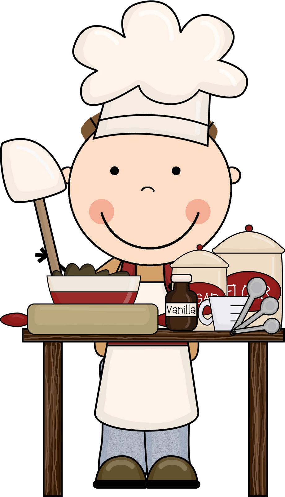 Clear cute baker clipart.