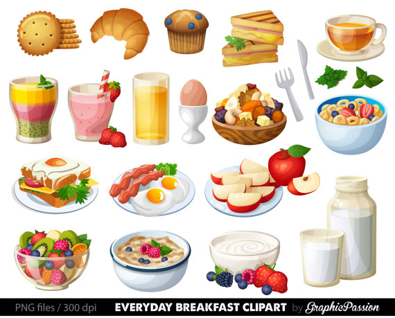 Food Clipart Breakfast Cake Clip art Sweet Treat Bakery clip.