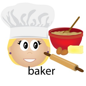 Female Baker Clipart.