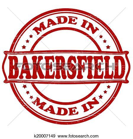 Clip Art of Made in Bakersfield k20007149.