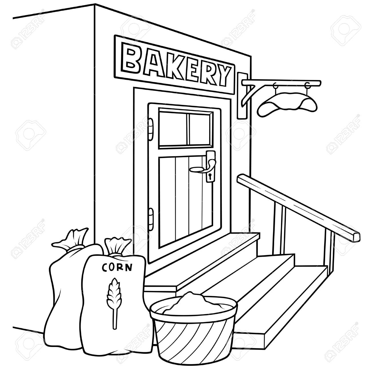 Bakery clipart bread shop, Bakery bread shop Transparent.