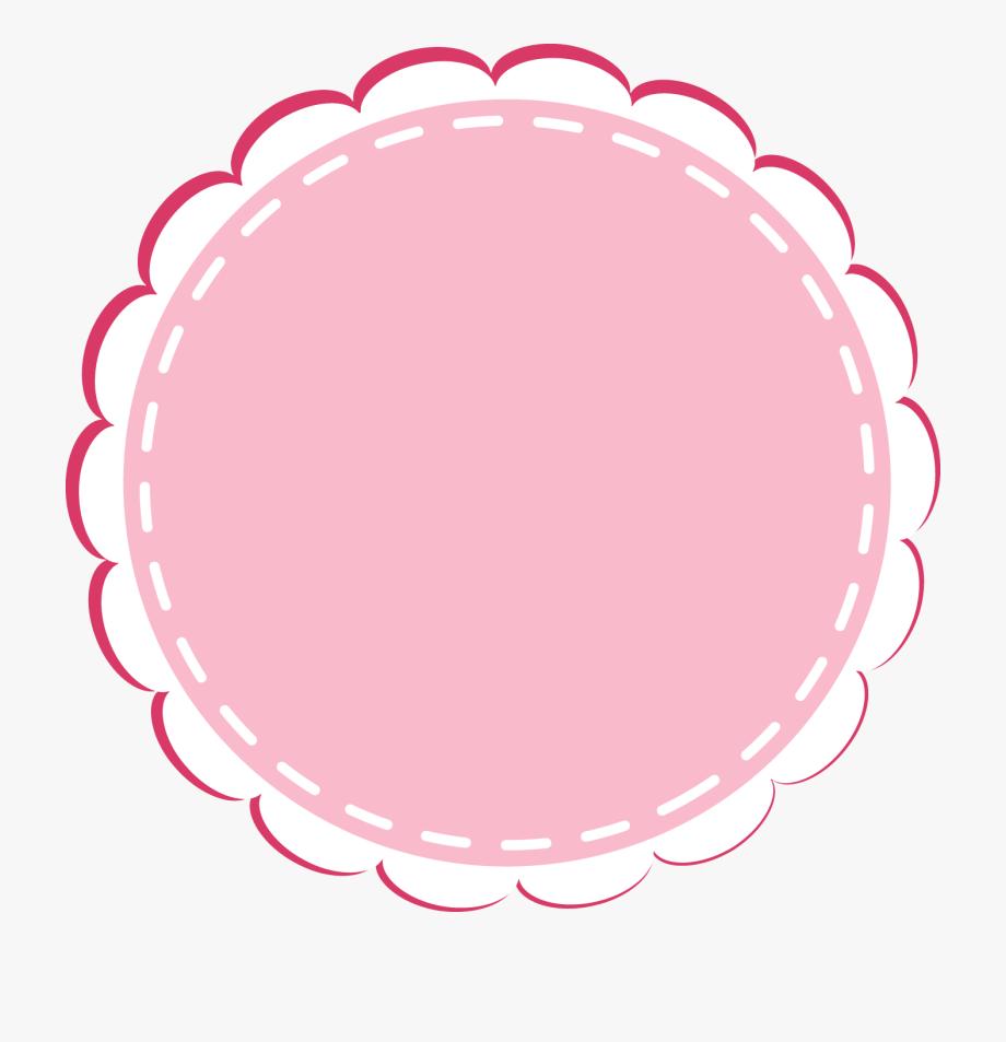 Cute Studios Lace Column Ocean Bakery Circular Clipart.