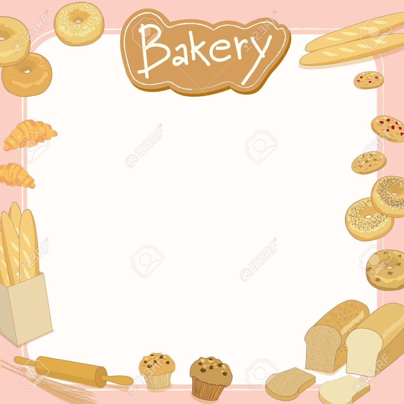 Menu template design vector illustration.Bakery cafe shop.Blank...