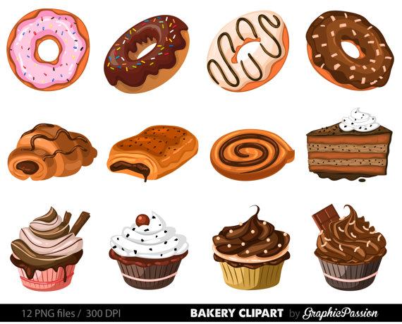 Bakery Clipart Cake Clip art Pie clip art Ginger house Dessert.