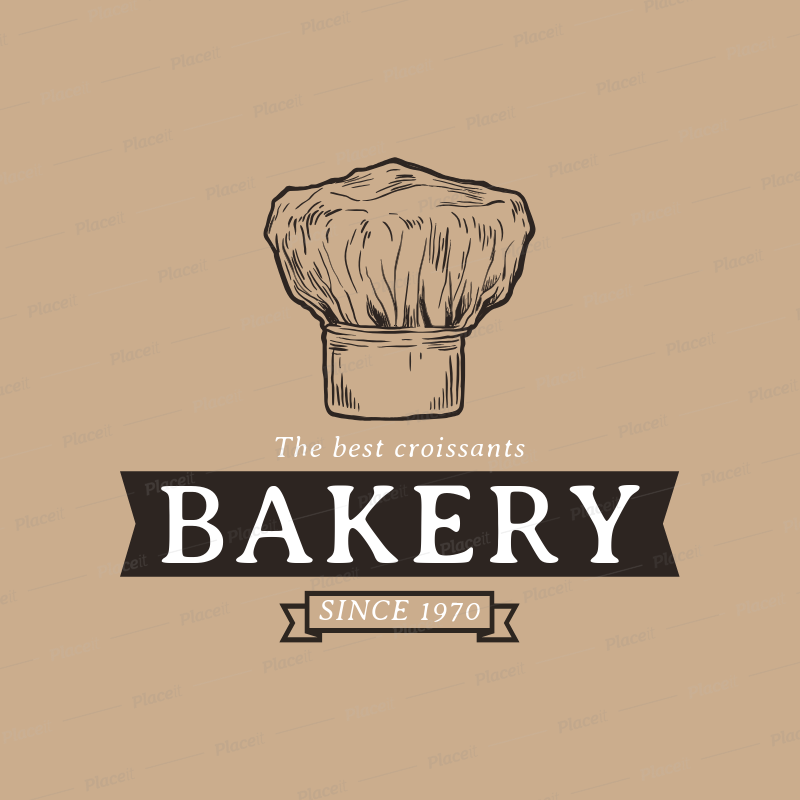 Bakery Logo Maker with Ink Drawings a1113.