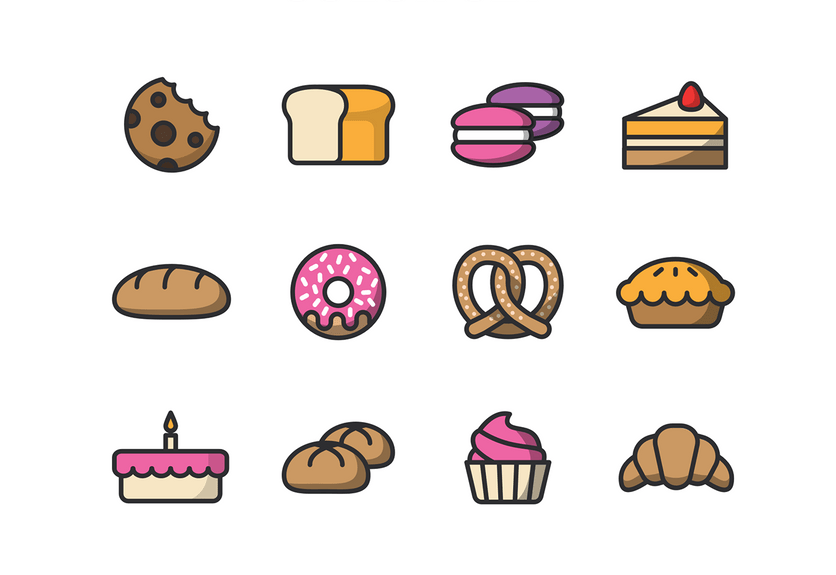 35+ Best Bakery & Coffee Shop Icons.