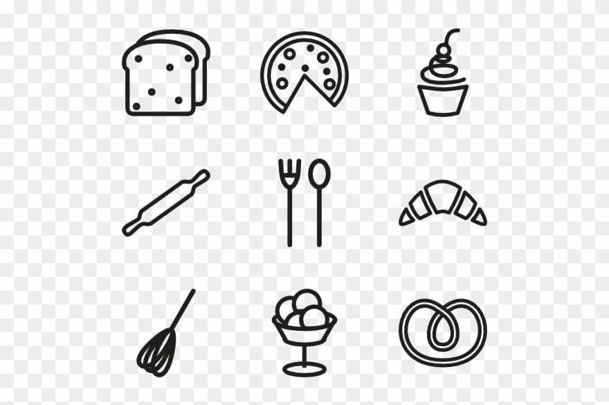 Bakery Icon Set.