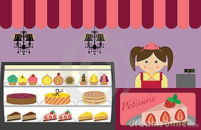 FRENCH PATISSERIE CLIP ART.