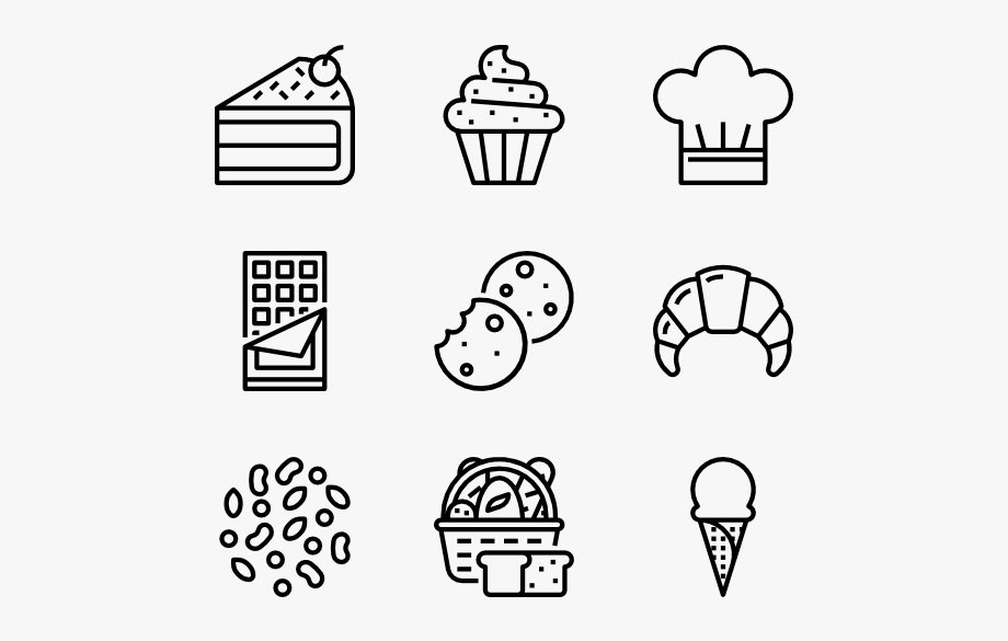 Cake Icons Free Vector Bakery.