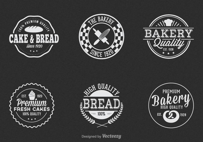 Vintage Bakery Vector Label Set.
