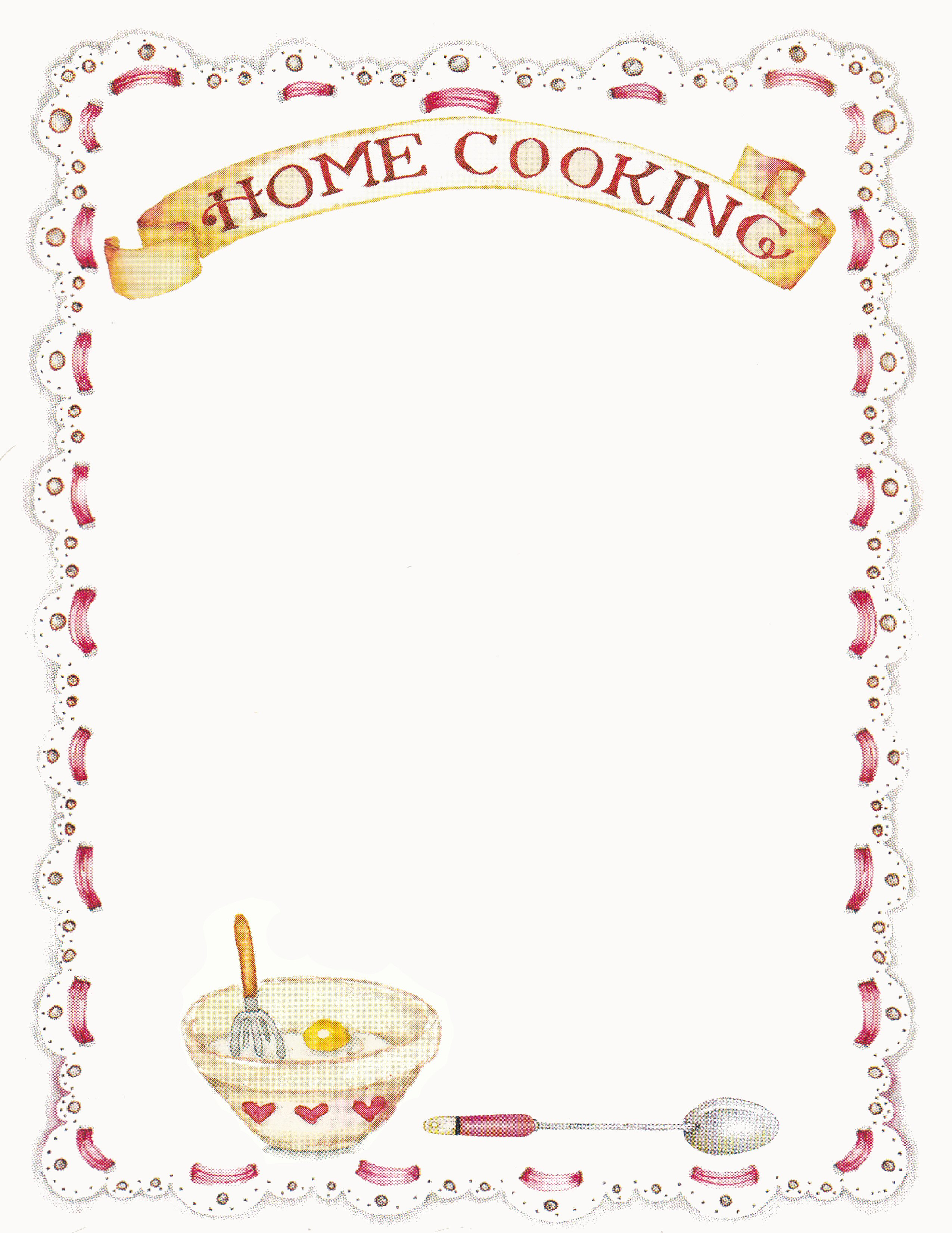 Baking Clipart Borders.